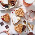 Cuori french toast ripieni di crema di nocciole