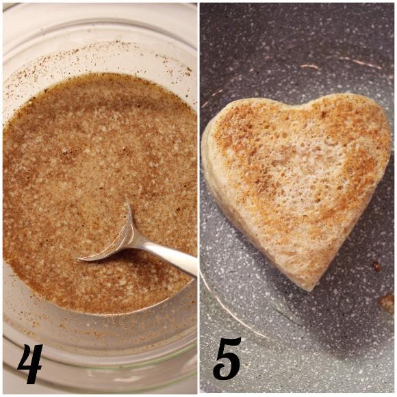 Cuori french toast ripieni senza uova procedimento