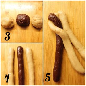Trecce di biscotto bigusto con doppia crema di nocciole senza lunghi tempi di lievitazione procedimento