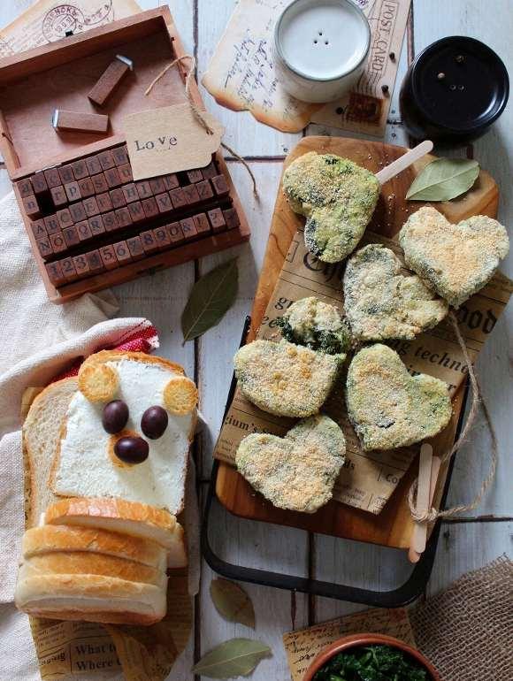 Polpette di ricotta e spinaci al forno a forma di cuore senza uova