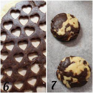 biscotti marmorizzati alla ricotta