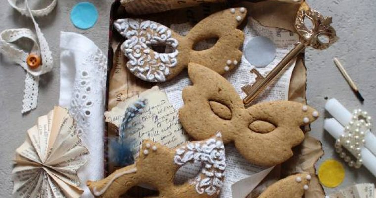 Biscotti Maschere di carnevale senza lattosio senza uova senza burro