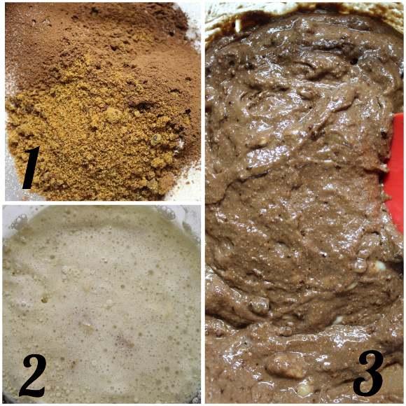 preparazione Banana bread al cacao senza uova senza burro