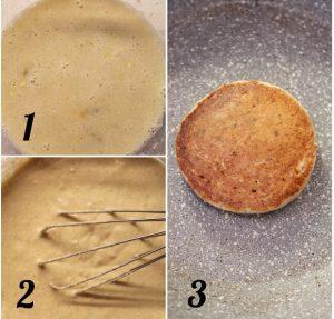 Pancake alla banana avena e nocciole senza uova senza burro procedimento