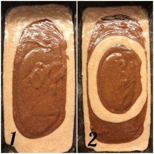 Plumcake integrale marmorizzato preparazione