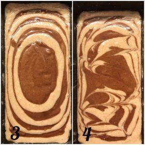 Plumcake integrale marmorizzato procedimento