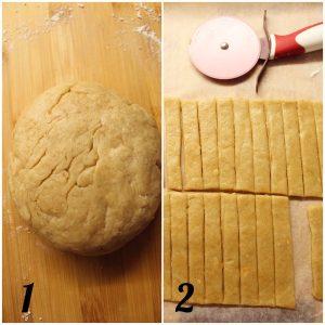 Biscotti pie cookies con crema di nocciole preparazione