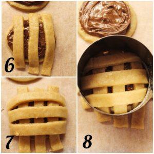 Biscotti pie cookies preparazione striscette di frolla vegana
