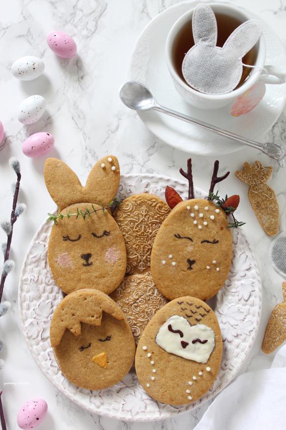 Biscotti uova di Pasqua animaletti