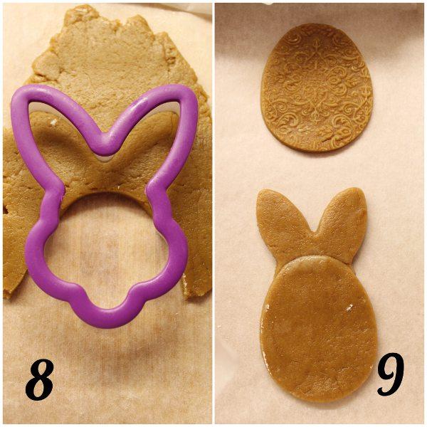 Biscotti uova di Pasqua a forma di animaletti senza uova procedimento coniglio