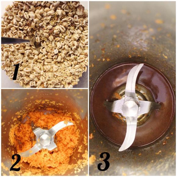 procedimento della Granola fatta in casa alle carote