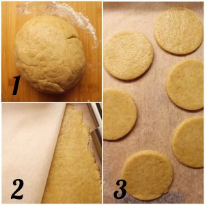 Biscotti Hamantaschen vegani preparazione