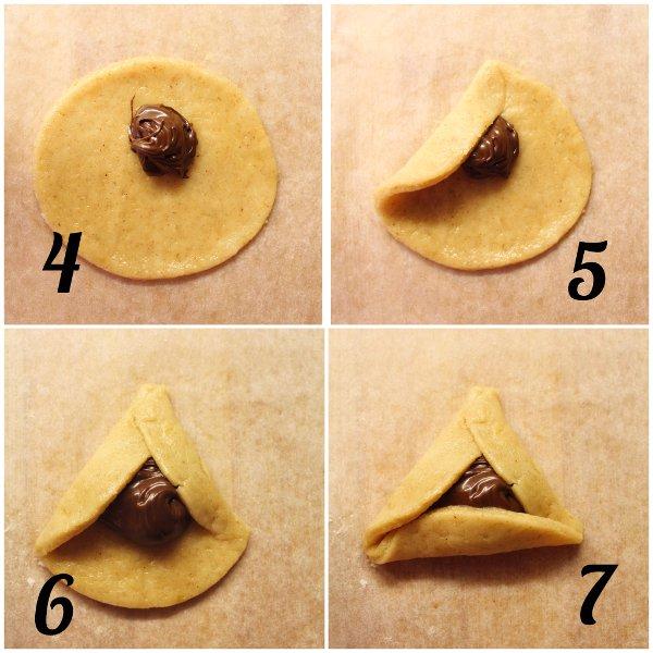 Biscotti Hamantaschen vegani procedimento