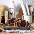 Plumcake integrale marmorizzato vegan