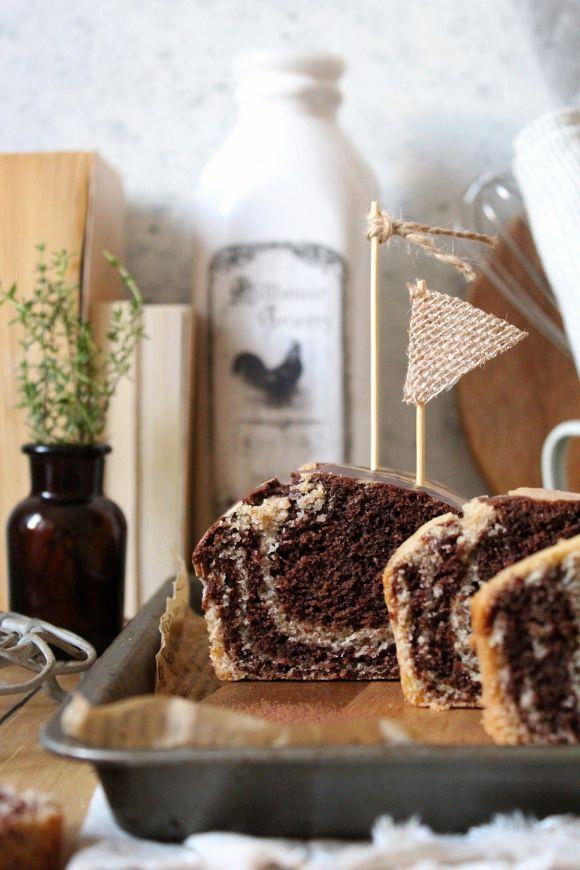 Plumcake integrale vaniglia e cacao marmorizzato vegan