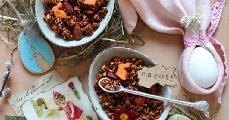 Granola fatta in casa alle carote