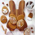 Biscotti alle carote a forma di uova senza glutine senza lattosio