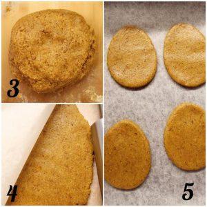 Biscotti alle carote a forma di uova senza glutine preparazione