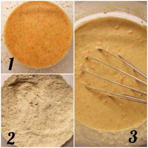 Pancakes alle carote senza glutine preparazione