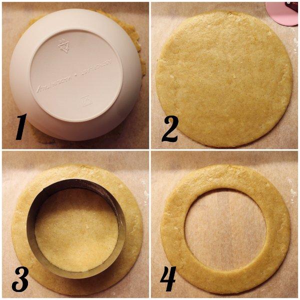Ghirlanda di biscotti di uova preparazione