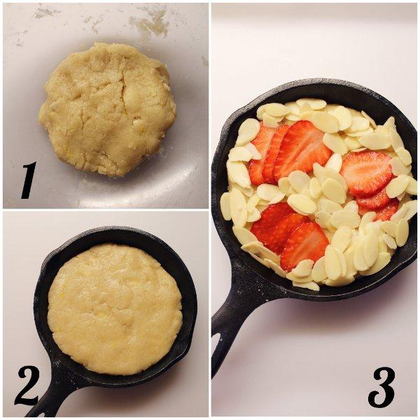 procedimento del Biscottone con mandorle cotto in padella al forno