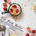 Biscottone con mandorle cotto in padella al forno vegan