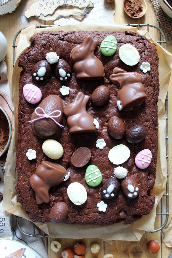 Brownies di Pasqua senza burro senza uova
