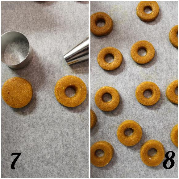 procedimento n°2 per i Cereali ciambelline integrali alle carote fatti in casa