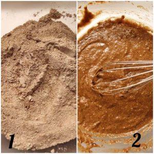 Ciambelle di farro integrale al cacao e cocco senza uova senza lattosio preparazione