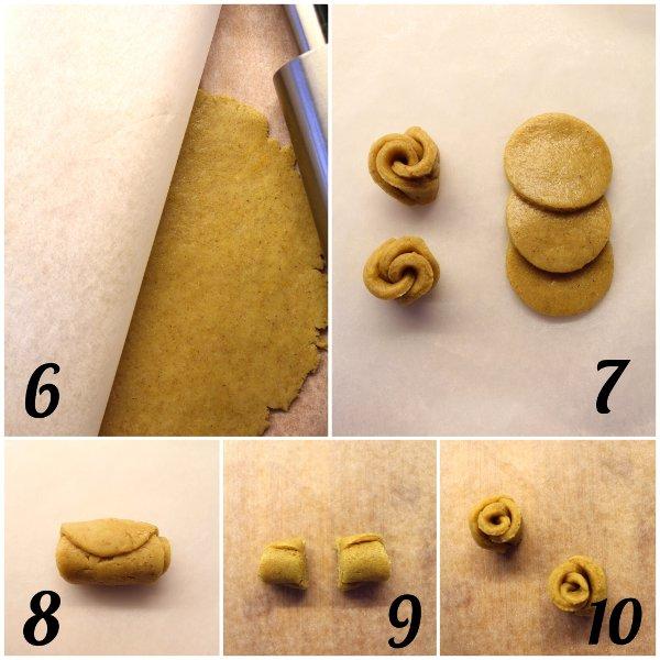 Ghirlanda con rose di biscotto vegan procedimento