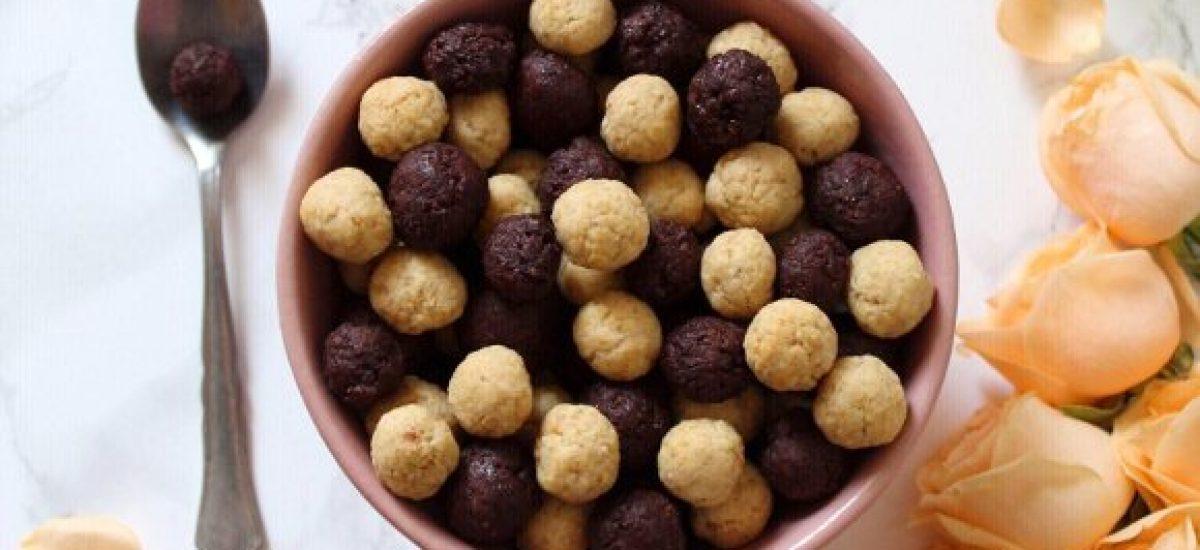 Cereali morbidi vaniglia e cacao con yogurt greco