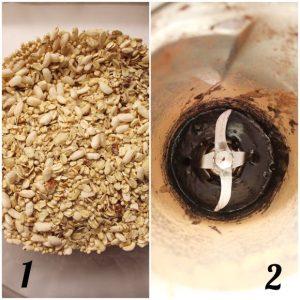 Granola gocce di cioccolato e cacao fatta in casa preparazione