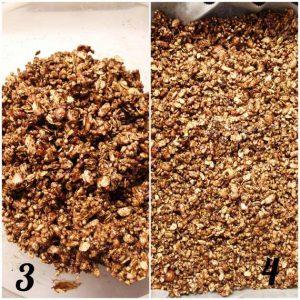 procedimento della Granola al cacao e gocce di cioccolato fatta in casa