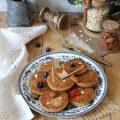 Mini breakfast pancakes cocco mandorle e fiocchi d'avena senza lattosio senza uova