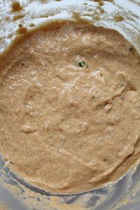 impasto Mini plumcake e muffin al pomodoro con yogurt greco senza uova