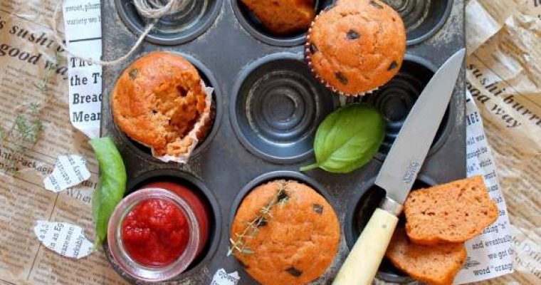 Mini plumcake e muffin al pomodoro con yogurt greco senza uova