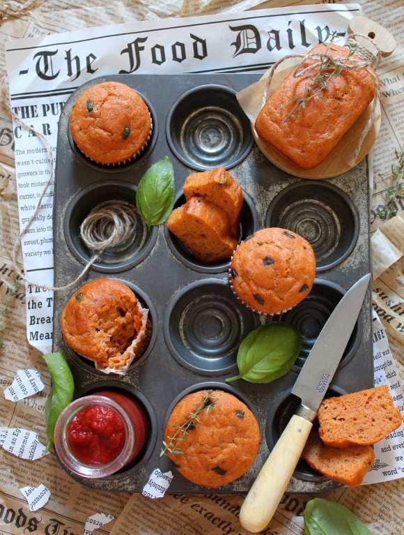 Mini plumcake e muffin al pomodoro senza uova