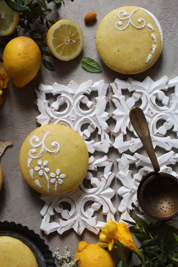 Tortina al limone e mandorle senza glutine