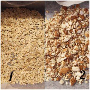Granola senza lunga cottura dolcificata con datteri e banana preparazione