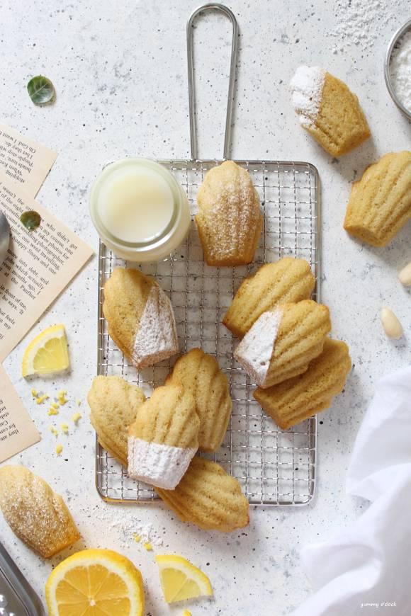 Madeleine senza glutine e vegane al limone
