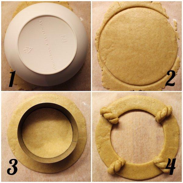 procedimento della Ghirlanda di biscotti estiva senza lattosio senza uova senza burro