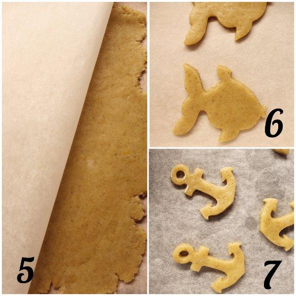 preparazione della Ghirlanda di biscotti estiva senza lattosio senza uova senza burro
