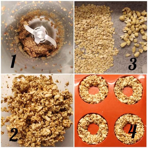procedimento delle Ciambelle di granola senza lunga cottura