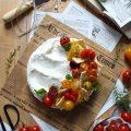 Cheesecake salata con pomodorini senza burro