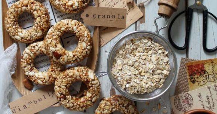 Ciambelle di granola senza lunga cottura