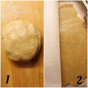 Biscotti a forma di luna e stelle senza uova senza burro preparazione