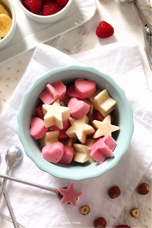 Frozen yogurt alla banana a forma di stella fatto in casa