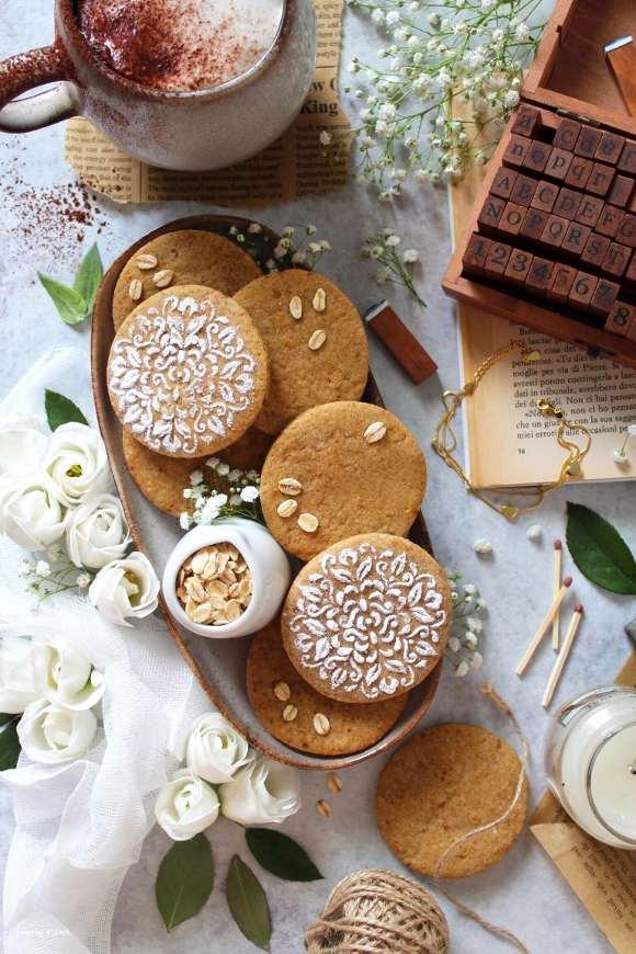 Biscotti nocciole miele e avena senza lattosio senza burro