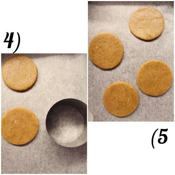 preparazione dei Biscotti nocciole miele e avena senza lattosio senza uova senza burro