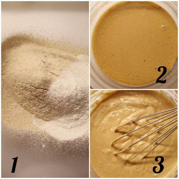 preparazione delle Ciambelle allo yogurt greco limone e zenzero senza uova senza burro